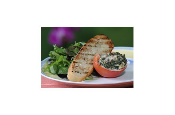 Image of Alouette Light Garlic & Herbs Stuffed Tomatoes, Foodista