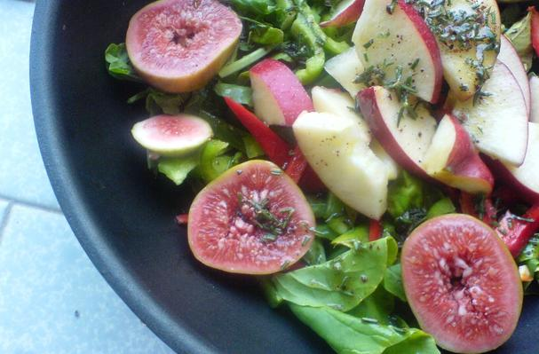 Fig, Apple, and Roquette Arugula Salad