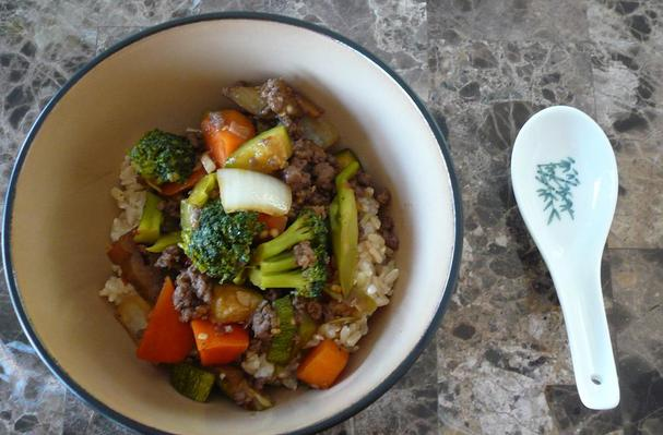 Image of Asian Vegetable Stir Fry With Ground Beef, Foodista