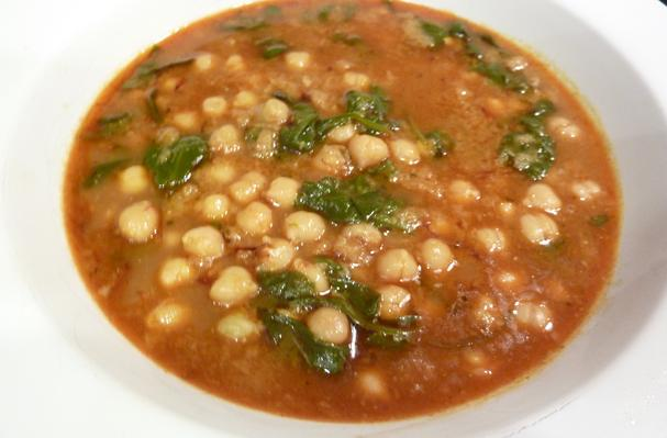 Spanish Spinach And Chickpea Stew Recipe — Dishmaps