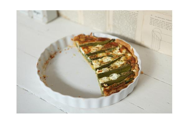 Image of Asparagus Goat Cheese Tart, Foodista