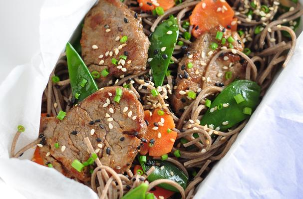 Soba Noodle and Five-Spice Pork Salad
