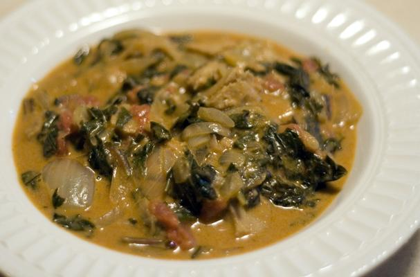 Foodista Recipes Cooking Tips And Food News Spicy West African Greens Amp Peanut Stew