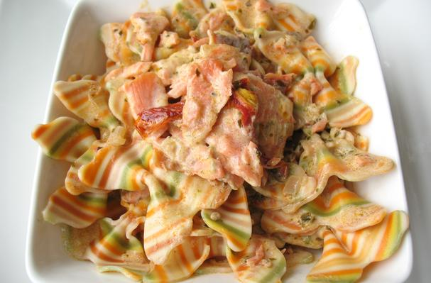 Image of Artisan Farfalle Pasta With Smoked Salmon And Cream Sauce, Foodista
