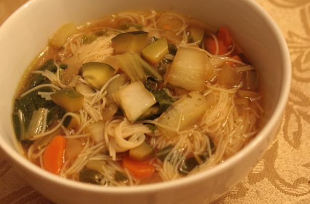 Image of Asian Rice Noodle Soup, Foodista