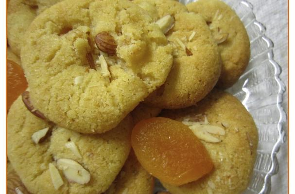Image of Apricot Chickpea Flour Cookies, Foodista