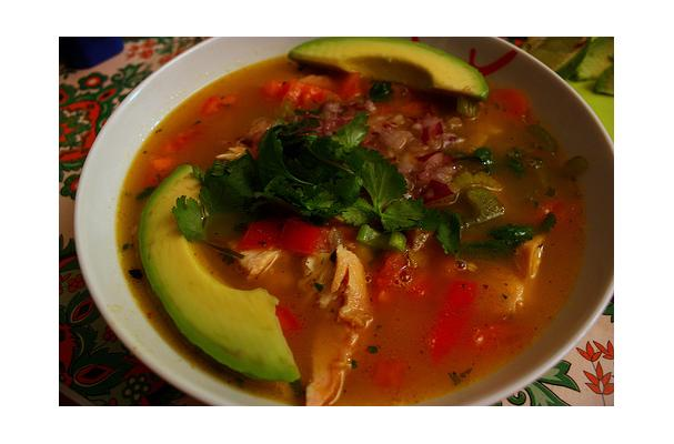 Image of Avocado, Corn, Tomato And Tortilla Soup, Foodista