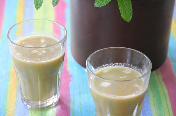 Image of Almond Mint Drink, Foodista