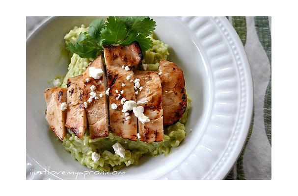 Image of Avocado & Feta Cheese Creamy Rice With Grilled Chicken, Foodista
