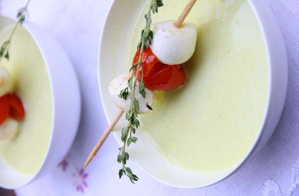 Image of Avocado Gazpacho With Tomato And Mozerella, Foodista