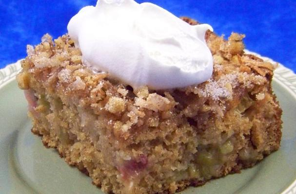 Foodista Recipes Cooking Tips And Food News Grandma B S Rhubarb Cake
