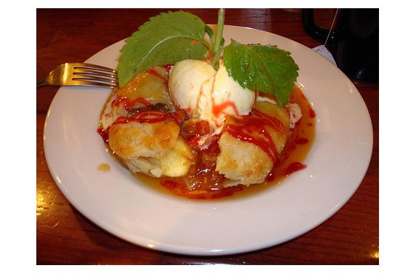 Image of Apple Dessert With Vanilla Sauce, Foodista