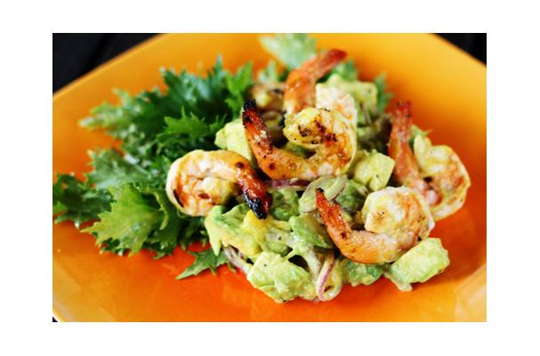 Image of Avocado-mango Salad With Grilled Shrimp, Foodista
