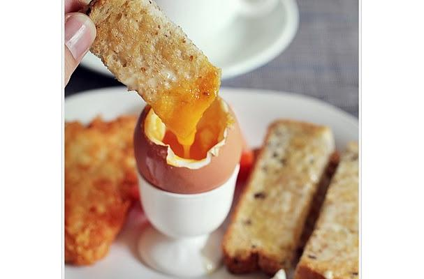 egg cups with toast fingers