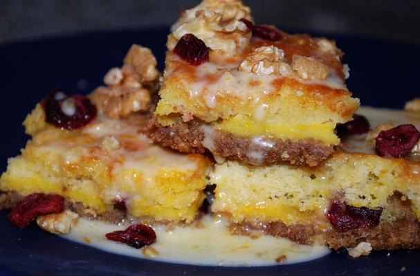 Image of Amaretto Cranberry Bars With Orange Glaze, Foodista