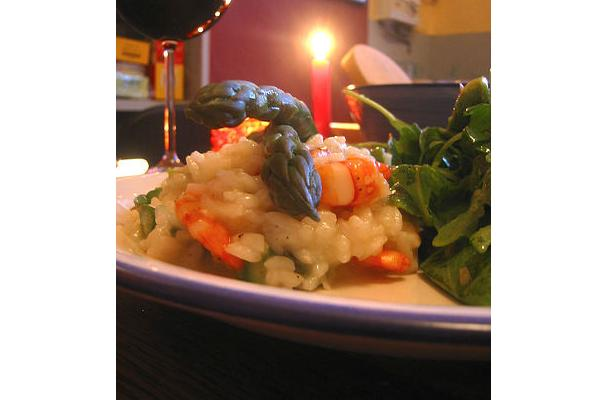 Image of Asparagus Risotto With Shrimp, Foodista