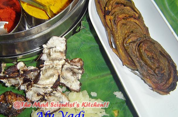 Image of Alu Vadi Or Taro Leaf Roll, Foodista
