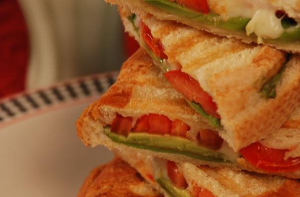 Image of Avocado Tomato & Mozzarella Panini, Foodista