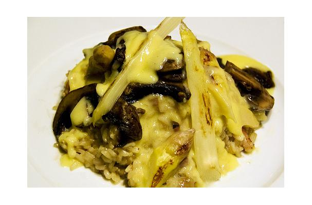 Image of Asparagus And Mushroom Risotto, Foodista