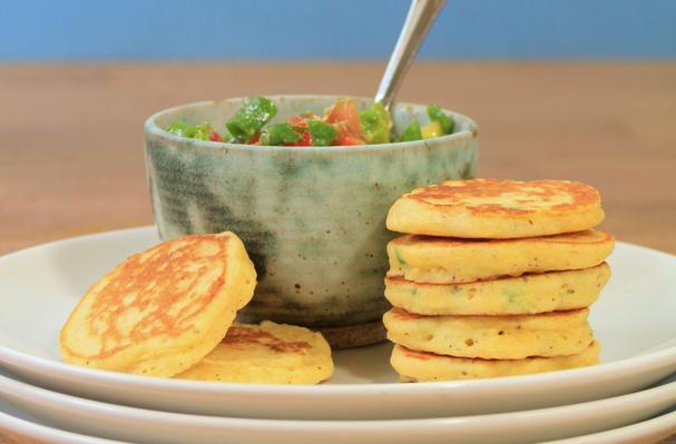 Image of Jalapeno Corn Cakes With Avocado Salsa, Foodista