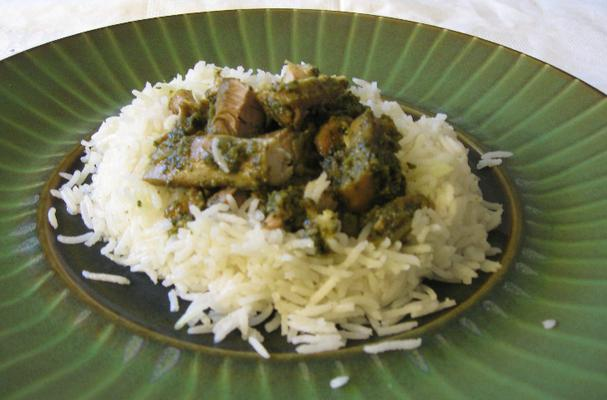 Image of Aarti's Green Minty Curry Chicken, Foodista