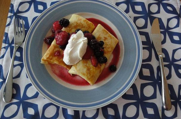 Berry Cheese Blintzes