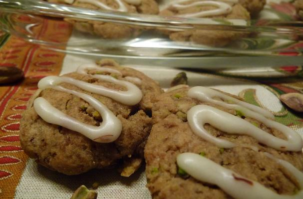 Image of Almond Pistachio Cookied With Saffron Icing, Foodista