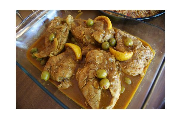 Image of Algerian Chicken With Olives, Foodista