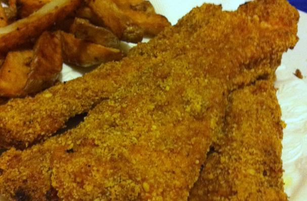 Image of Almond Crusted Chicken Fingers, Foodista